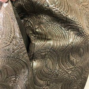Banana Republic Dresses - Banana Republic Metallic Textured Fitted Dress 10